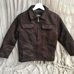 Kenneth Cole Reaction Brown Suede Jacket 🐻